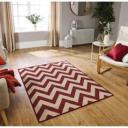 Oriental Weavers Teppich, 100% Polypropylen, rot, 160cm x 225cm (Prisma Garn)