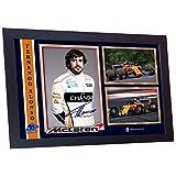 SGH SERVICES Neuf encadrée Fernando Alonso autographe Formule 1Photo encadrée Pre-Print MDF Cadre Photo dédicacée