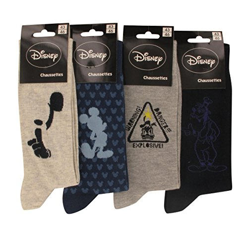Disney Chaussettes Homme Lot de 4 Disney