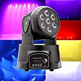 U`King LED Lichteffekte DMX512 Mini Moving Head 4 Farbe RGBW 5 Steuerungsmodus Disco Licht mit 9/14 Kanal für Party Disco Ballsaal Stab Stadium Club(70W)