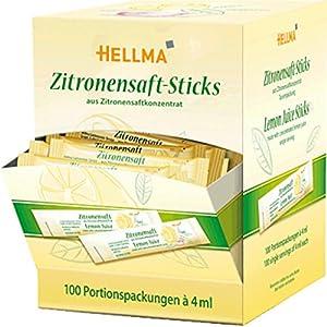 Hellma Zitronensaft – Sticks100X4G, 1er Pack (1 x 400 ml)