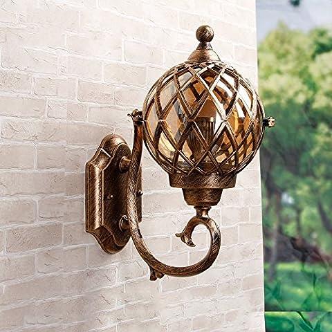 Villa Tür Kupfer Wand Lampe LED Retro europäischen Outdoor wasserdichten