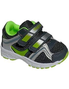 GIBRA® Kinder Sportschuhe, mit Klettverschluss, grau/neongrün, Gr. 22-27