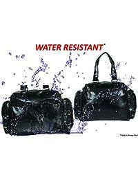 XENSA® Genuine LEATHERite Stylish Large Travel Tote Oversized DUFFLE Luggage Bag 65 LTR-Black-#Shetty Group®