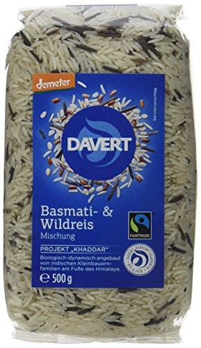 Davert Basmati- & Wildreis Mischung 4er Pack (4 x 500 g) - Bio (Bio-wildreis)