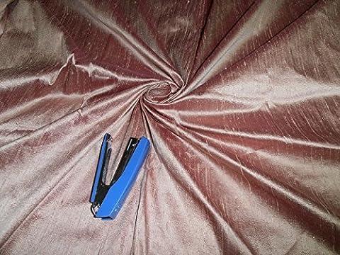 100% Seide Dupionseide Stoff Rose Pink (von der Hof) ~ mit Teppich in grober Weboptik us5270- Hobbys, Home Decor, Nähen, Mode, Puppe Kleid, Einrichtung, innen.