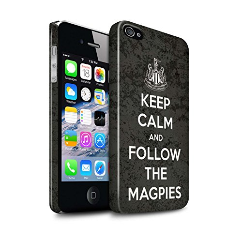 Officiel Newcastle United FC Coque / Clipser Brillant Etui pour Apple iPhone 4/4S / Pack 7pcs Design / NUFC Keep Calm Collection Suivez/Magpies