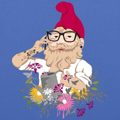 Spreadshirt Mein Garten Hipster Stoffbeutel Hellblau