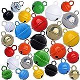 Cascabeles 9 colores (9 pequenos 15mm + 9 grandes 25mm + 9 gigantes 35mm) sonido de calidad - 27 cascabeles manualidad para ninos, bebe, decoracion, navidad, Montessori - Buscar MUSIKID para ver todos los paquetes de cascabeles manualidades en amazon