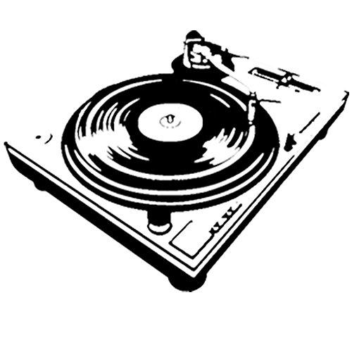 DJ Vinyl Player Deck-Diy facile da applicare da parete in