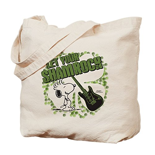 CafePress Snoopy Sham-Rock Tragetasche, canvas, khaki, S Shams Rock