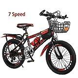 Bike Kinderfahrräder 7 Geschwindigkeit Fahrräder 18 Zoll 20 Zoll Mountainbikes Für Jungen Und Mädchen,Red1,20In