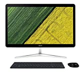Acer U27-880 IPS/LED All-in-One Desktop PC - (Silver/Black) (Intel i7 7500U 2.7 GHz, 8 GB RAM, 2 TB HDD, Windows 10)