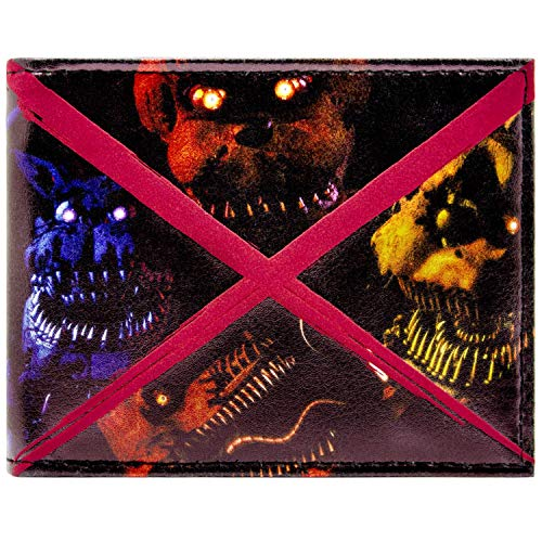 Fazbears Five Nights Scary Freddy Black ID & Card Bi-Fold Wallet