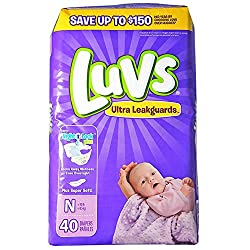 Luvs Ultra Leakguards Diapers Jumbo Pack, Size Newborn - 40 Ct, 4 Pack