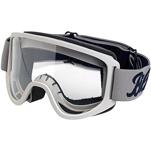 Brille Goggle Biltwell Moto 2.0Script Titanium Black schwarze Titan-transparent elastische Bandage Stil Café Racer Biker