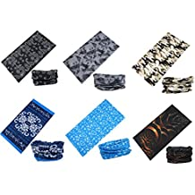 Bandana Bufandas Cintas Deportivas para el Pelo - Datechip Multifuncional Headwear 12-In-1 Magic Bufanda Diadema Bandana UV Insectos Escudo Bufanda [Paisley] Muñequera, Pasamontañas Headwrap, Braga, Casco Liner 100% Microfibra