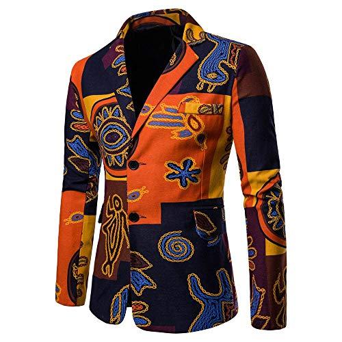 Sannysis Lässiger Blazer Herren Slim Fit Freizeit Causual Tweed Blazer Sakko Business Hochzeit Slim Fit 2 Knopf Kurzmantel - Tweed Wolle Strickjacke