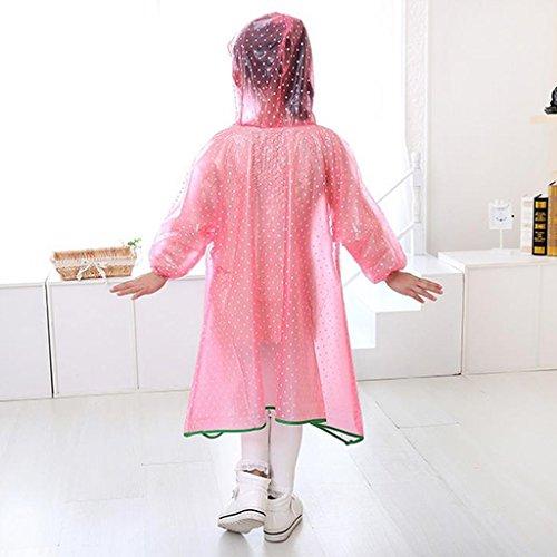 Kinder Regenmantel Poncho kristallklares weiches Aufbewahrungstuch dicker abriebfest ( farbe : Pink , größe : XXL ) Pink