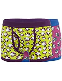 Red Herring Mens Pack Of Two Purple Sheep And Dog Keyhole Trunks L