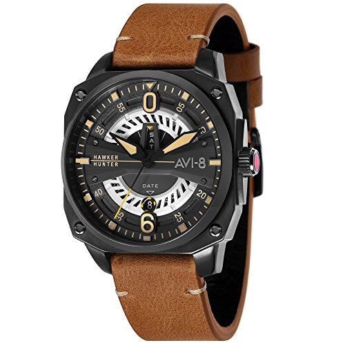 Montre Homme - AVI-8 - HAWKER HUNTER - Cuir - 45mm - AV-4057-04