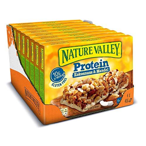 Nature Valley Protein Kokosnuss Mandel, 8er Pack (8 x 160 g Multipack mit je 4 Proteinriegeln)