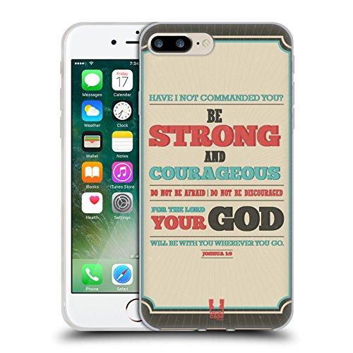 Head Case Designs Anker Für Die Seele Christliche Typografie Serie 2 Soft Gel Hülle für Apple iPhone 6 / 6s Sei Stark Und Sehr Mutig