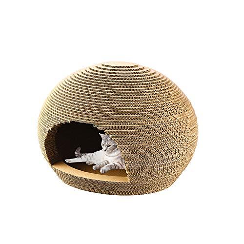 Katze Villa Pet Ball Wellpappe Kratzbrett Große fangen Spielzeug Hausstreu kann für Typ Klaue Kratzer Nagel Anti-Scratch-Sofa Platte verwendet Werden (Größe Spielbrett Leben)