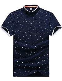 Camiseta Deportiva Moda Polo shirt con manga corta para hombre Tallas XXL/3XL/4XL/5XL/6XL/7XL Azul zafiro