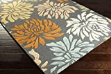 #4: SuperSoft Carpet Iconic Brand Pathak Carpet Floral Design Washable Anti-allergic Premium Cluster Carpet 5 feet By 8 Feet Best for Living Room,Bed Room,Dining Room,Coffee Table,Grey