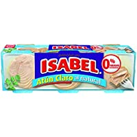 Isabel Atún Claro al Natural - Pack de 3 x 80 g - Total: 240 g
