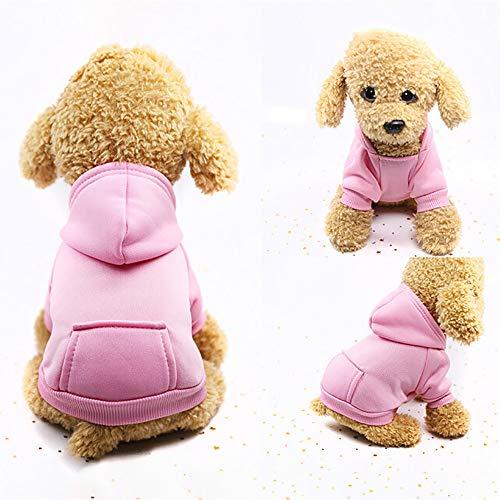 U.Expectating Hundekleidung Hoodie Winter warmen Welpen Mantel Stricken Welpen Pullover (XXL, Rosa)