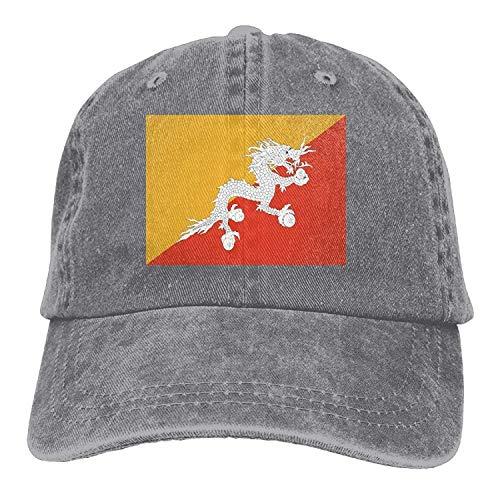Bhutan Flag Unisex Adult Denim Dad Baseball Hat Sports Outdoor Cowboy Cap for Men and Women