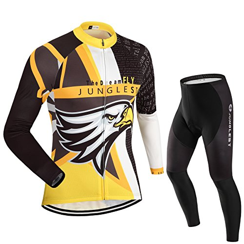 Maillot de Cyclisme Homme Manches Longues jersey(S~5XL,option:Cuissard,3D Coussin) N37