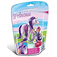Playmobil 6167 Collectable Princess Viola with Horse for Grooming and Dressing their Mane