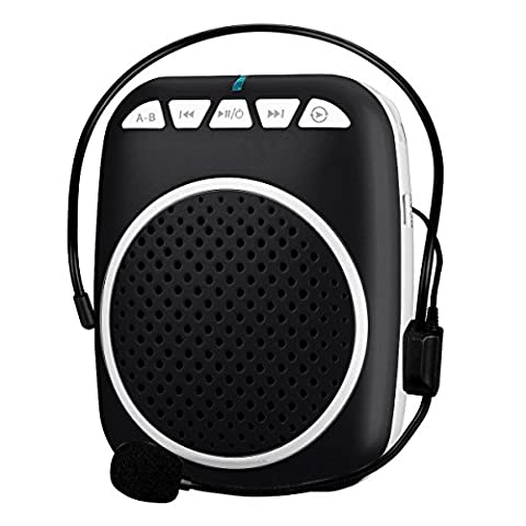 Zoweetek 5W Portable Voice Amplifier with 800mAh Lithium Battery and Wired Microphone Suitable for Tour Guides, Teachers, Coaches, Presentations, Costumes, Charger
