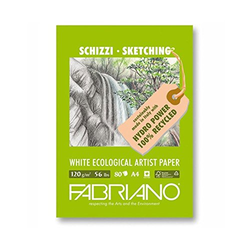 Fabriano 12821297 Pastellpapier, FSC 100% Recycling, weiß, 21 x 29,7 x 0,5 cm
