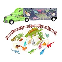 Zerodis. Dinosaurs Transport Car, Dinosaur and Wild Life Animal Zoo Car Carrier Transport Truck Toy With Dinosaur Toy Trucks for Kids Children