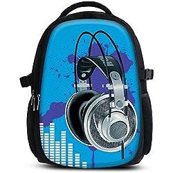 Mochila escolar para niños y niñas con compartimentos de MySleeveDesign - práctica para portátiles - Espalda y compartimentos acolchados, cómoda de llevar - con mucho espacio - Blue Sound