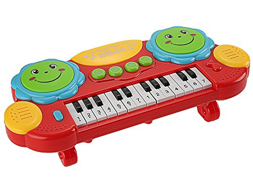Smibie Electronic Piano Keyboard 14 Keys Lighting Educational Musical Instrument Toy for Kids Toddlers