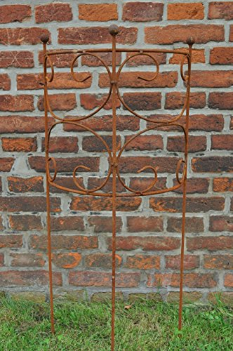 Treillis Lot de serre-câbles Treillage moitié Fer Rouille 100 cm de haut Durchmesser: 40cm Couleur rouille