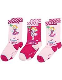 Prinzessin Lillifee Socks 3255o, Calcetines Altos Para Niñas, ( lot de 3 )