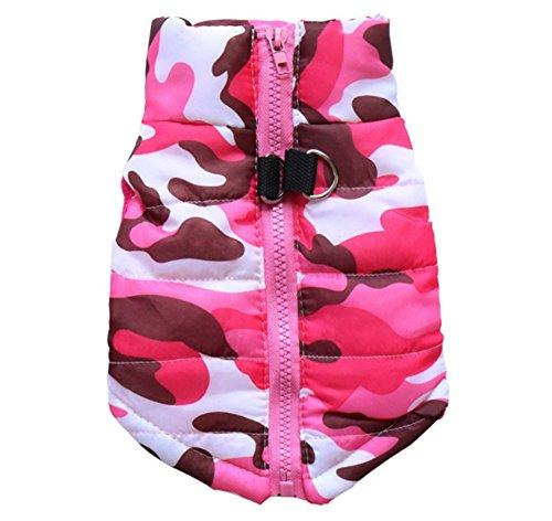 Beauty Mantel kleine Hundebekleidung, Winter warme Baumwolle Weste Jacke für Haustiere Welpen,pink,XL
