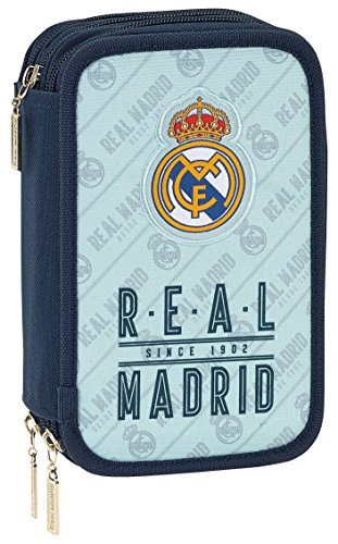 Safta Estuche Real Madrid Corporativa Oficial 41 Útiles Incluidos 210x60x105mm
