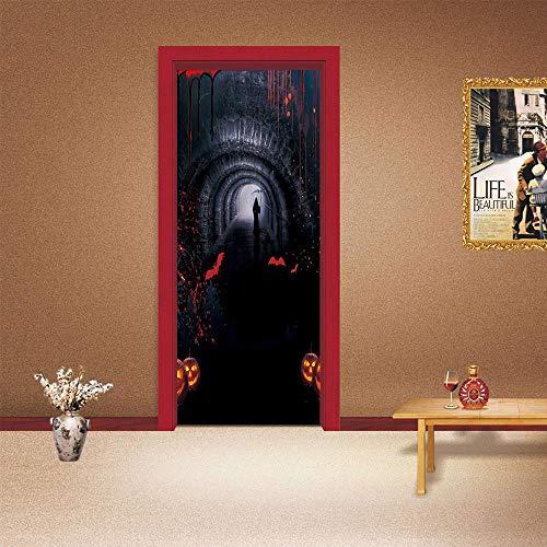 DAIHNZWC Explosion Modelle Direktverkauf Tür Aufkleber Ideen lustig Halloween Tür Aufkleber Schlafzimmer Wohnzimmer Eingangstür Dekoration Tapete Wandaufkleber