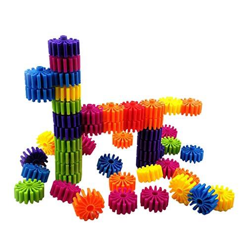 Fenteer Noppenbausteine Bausteine Konstruktionsspielzeug Pädagogische Spielzeug für Kleinkind - 30 mit Aufbewahrungsbox