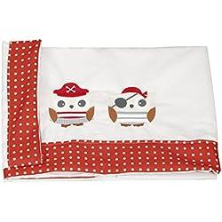 Juego de sábanas para minicuna con diseño de piratas.
