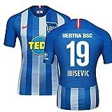 2018-19 Hertha Berlin Home Football Soccer T-Shirt Trikot (Vedad Ibisevic 19) - Kids