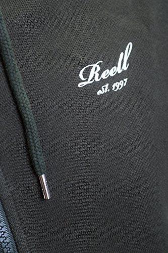 REELL Men Sweatwear Rib Zip Hoody Artikel-Nr.1305-008 - 03-006 Dark Olive