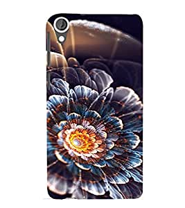 PrintVisa Flower Design 3D Hard Polycarbonate Designer Back Case Cover for HTC Desire 820